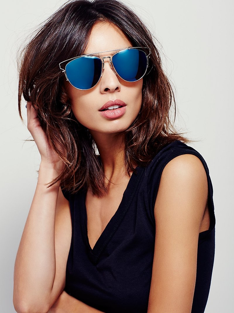 Free People Top Down Aviator Sunglasses