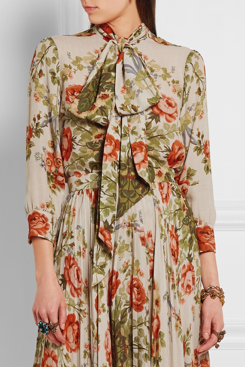 Gucci Pussy Willow Floral Print Blouse