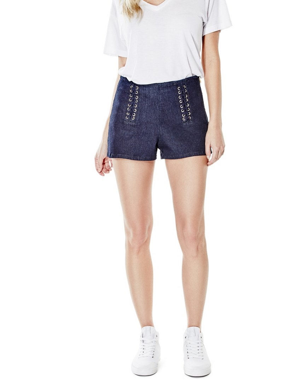 Guess Ashlee Push-Up Lace Denim Shorts