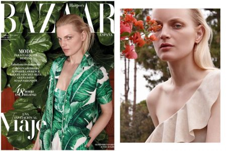 Guinevere van Seenus Wears Pared Down Looks for BAZAAR Spain
