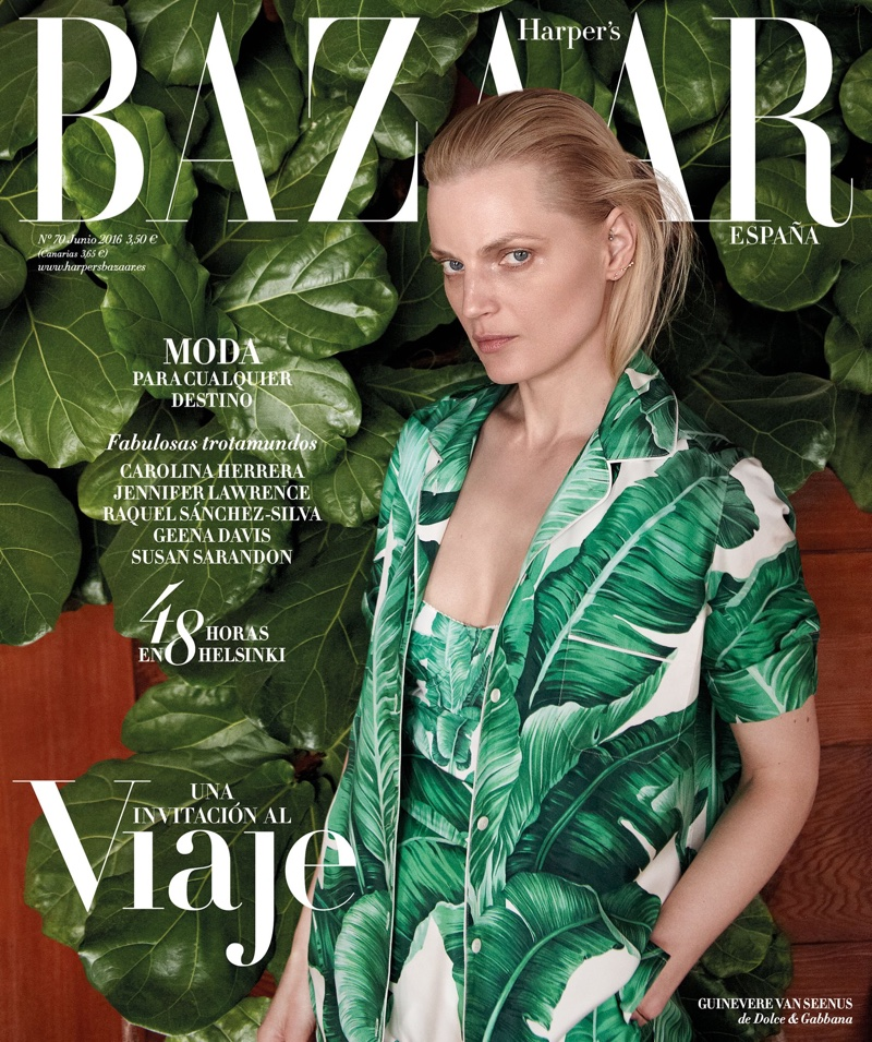 Guinevere van Seenus on Harper's Bazaar Spain June 2016 Cover