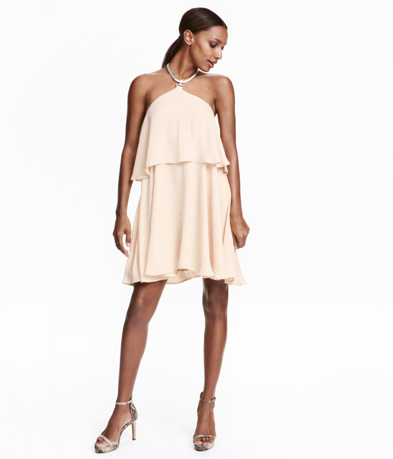 H&M Necklace-Trimmed Dress