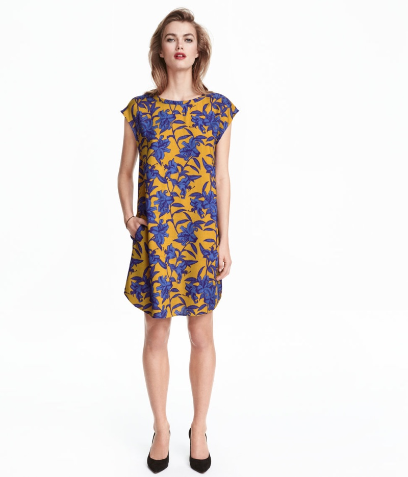 H&M Patterned Dress with Florals