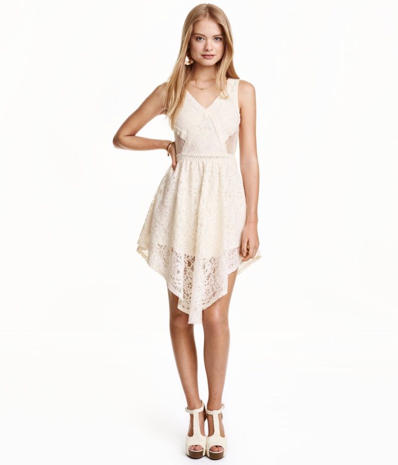 H&M Sleeveless Lace Dress