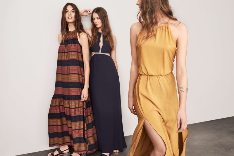 (Left) H&M Striped Maxi Dress and Sandals with Heel (Middle) Maxi Dress with Cutouts (Right) H&M Maxi Dress