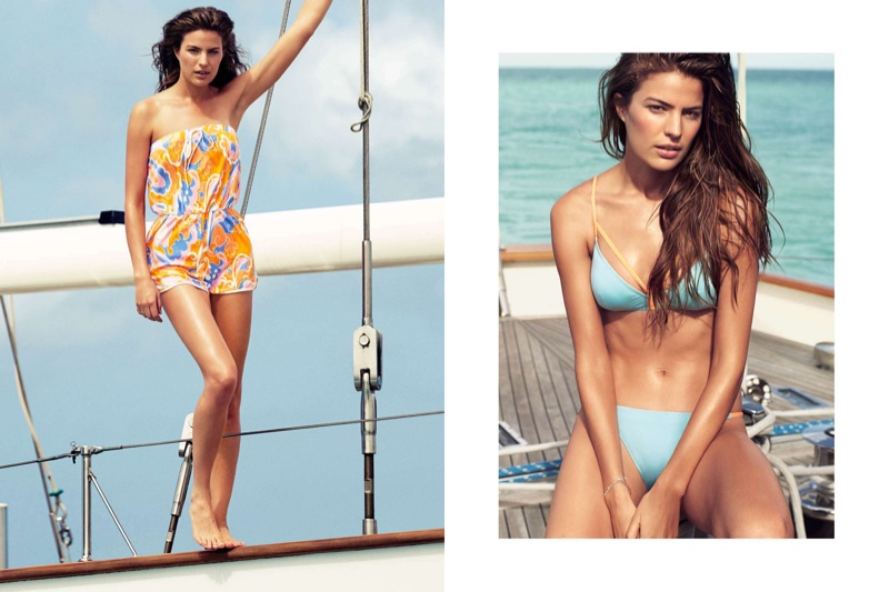 81e8efa53df19 (Left) H M Terry Jumpsuit (Right) H M Bikini Top and Bikini Bottoms
