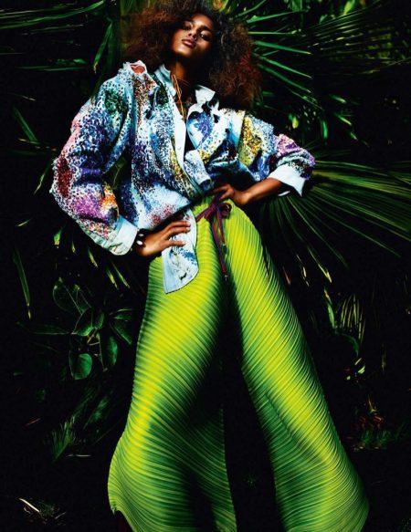 Imaan Hammam Models Spring's Hottest Fashions in Vogue Paris