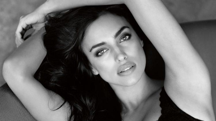 Irina Shayk Stuns in Black & White for Intimissimi's Perfect Bra Book