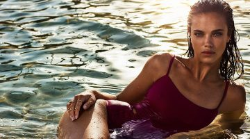 Jena Goldsack Models Major Swimsuit Inspiration in TELVA