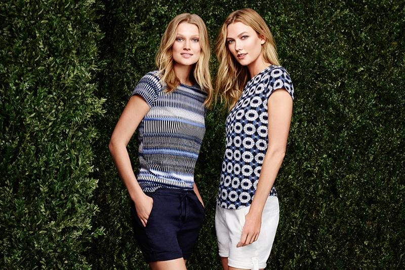 Toni Garrn and Karlie Kloss appear in Joe Fresh's summer 2016 advertising campaign