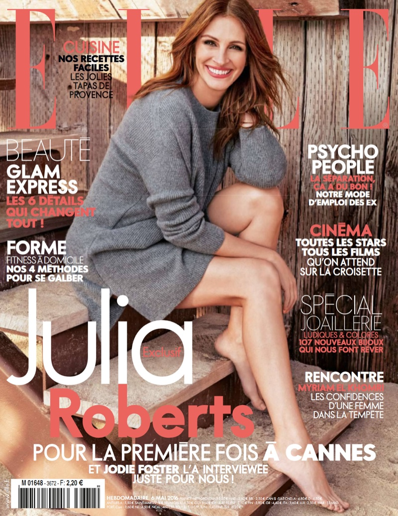 Julia Roberts on ELLE France May 8, 2016 Cover