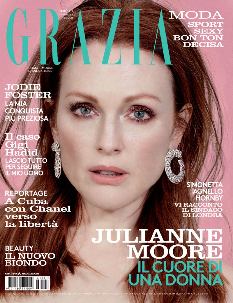 Julianne Moore on Grazia Italy May 18, 2016 Cover