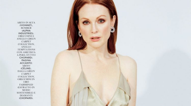 Julianne Moore Stuns for the Pages of Grazia Italy