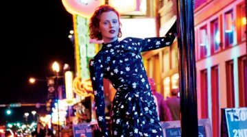 Karen Elson Explores Nashville for Bergdorf Goodman's Pre-Fall Catalog