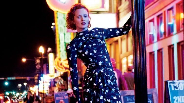 Karen Elson Explores Nashville for Bergdorf Goodman's Pre-Fall Catalog