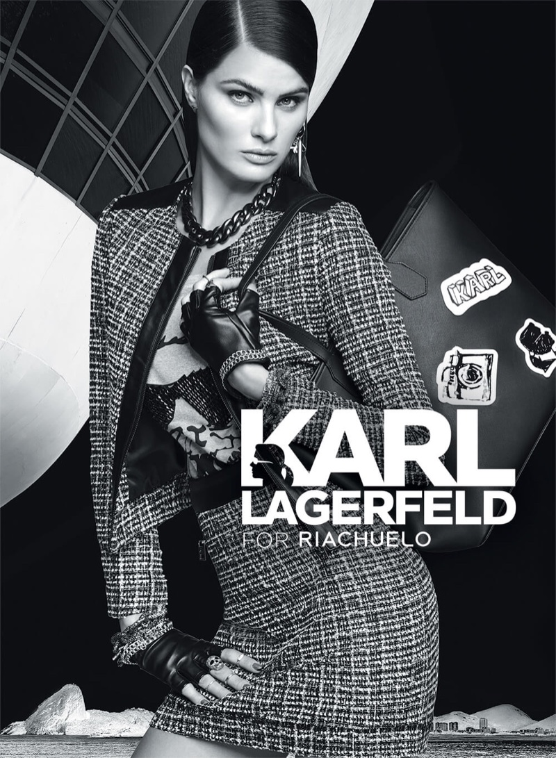 Isabeli Fontana stars in Karl Lagerfeld for Riachuelo's fall-winter 2016 campaign