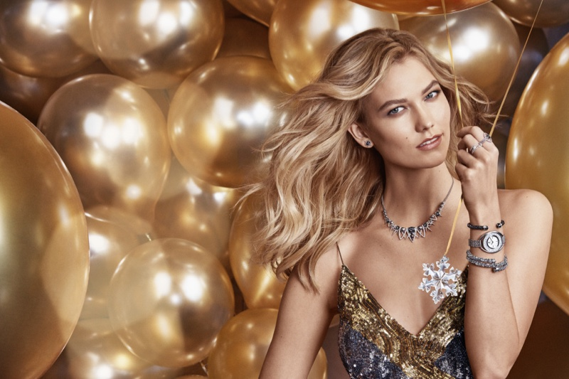 Karlie Kloss shines in her first campaign for Swarovski