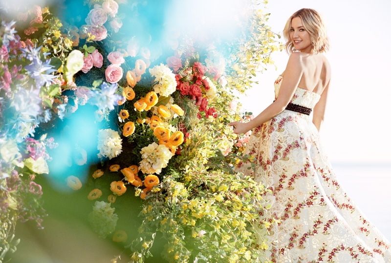 Kate Hudson Poses in Spring's Haute Couture Dresses for InStyle