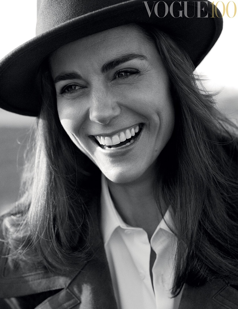 Kate Middleton is all smiles in Vogue UK's 100th anniversary issue