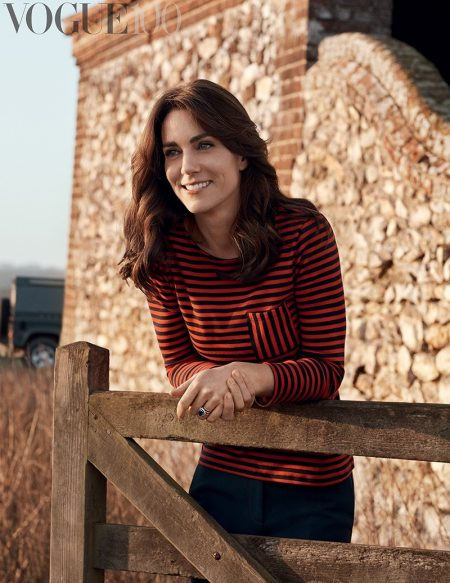 Kate Middleton was photographed in the Norfolk countryside for her first fashion photoshoot