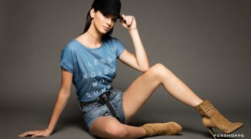 Kendall Jenner Flaunts Her Legs in Latest Denim Campaign