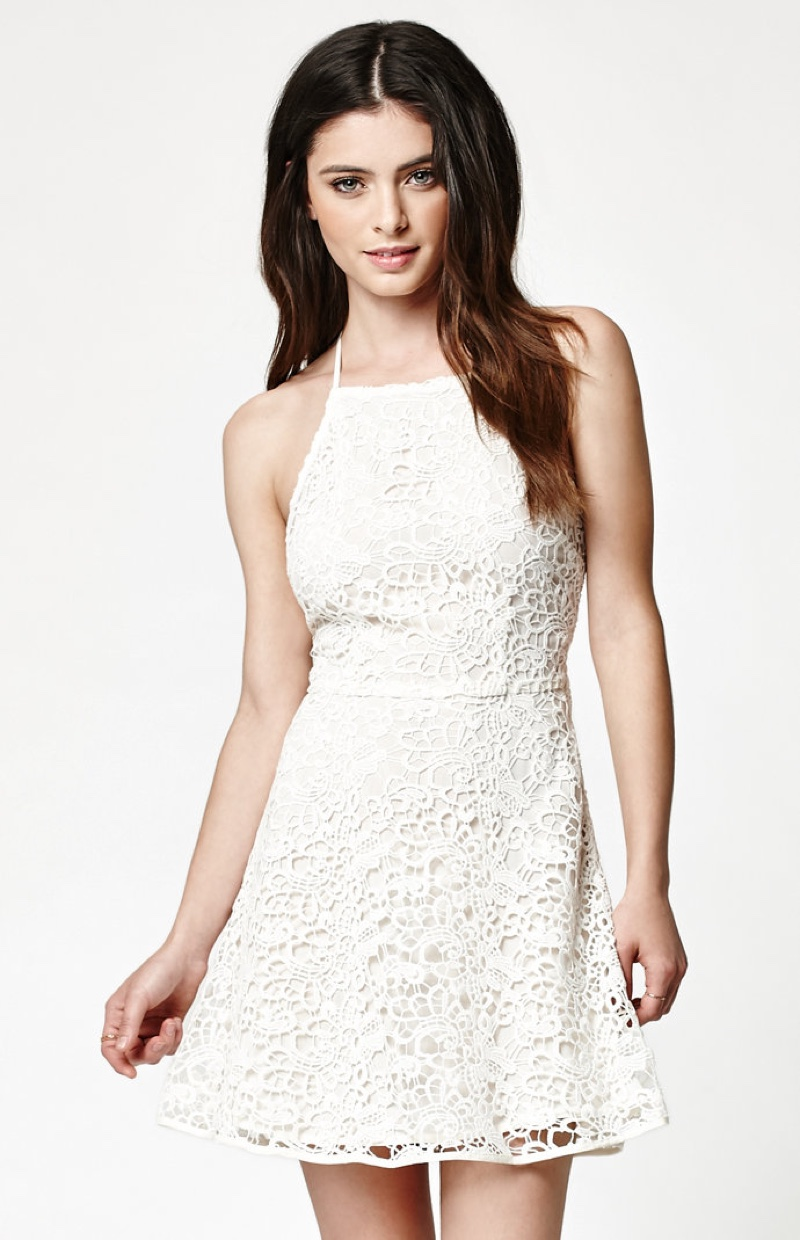 Kendall + Kylie Strappy Back Lace Dress