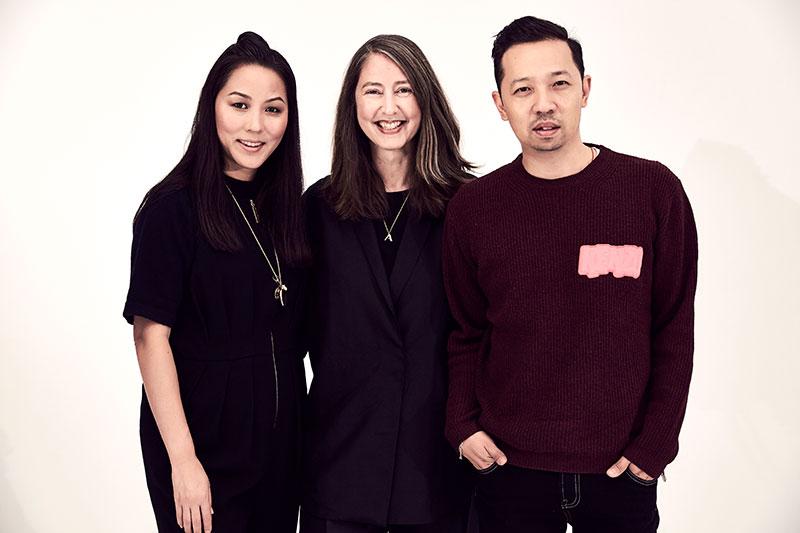 Carol Lim, Ann-Sofie Johansson and Humberto Leon. Photo: H&M