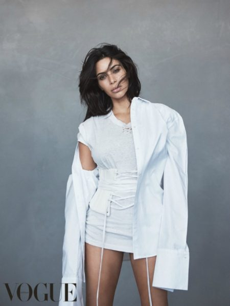 Kim Kardashian Wears Yeezy for Her Second Vogue Australia Cover