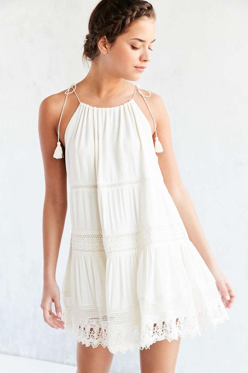 Kimchi Blue La Palma Crochet Inset Mini Dress