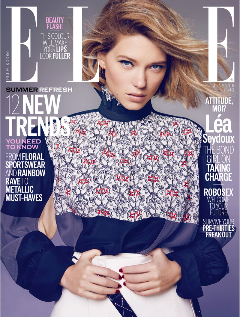 Lea Seydoux on ELLE UK June 2016 Cover