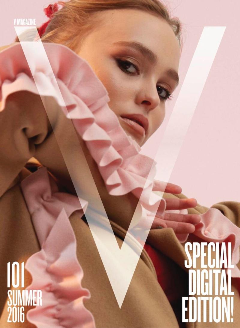 Lily-Rose Depp on V Magazine Summer 2016 Cover