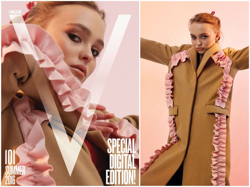 Lily-Rose Depp Poses on V Magazine's First Digital Cover