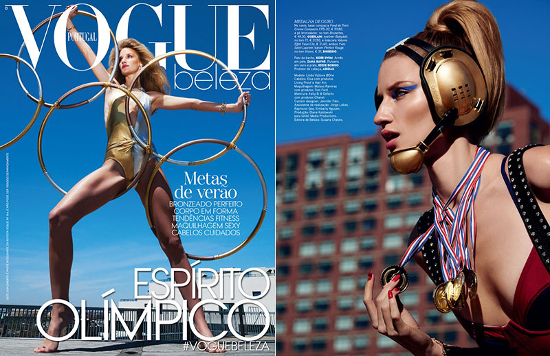 Linda Vojtova is an Olympic Beauty for Vogue Portugal