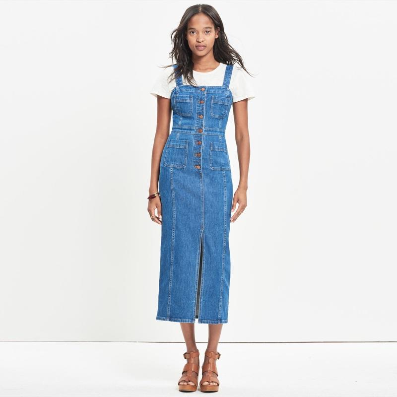 Madewell Denim Button Front Dress