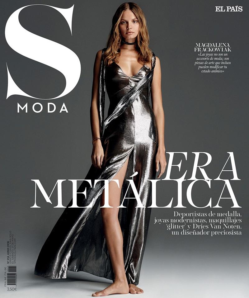 Magdalena Frackowiak on S Moda June 2016 Cover
