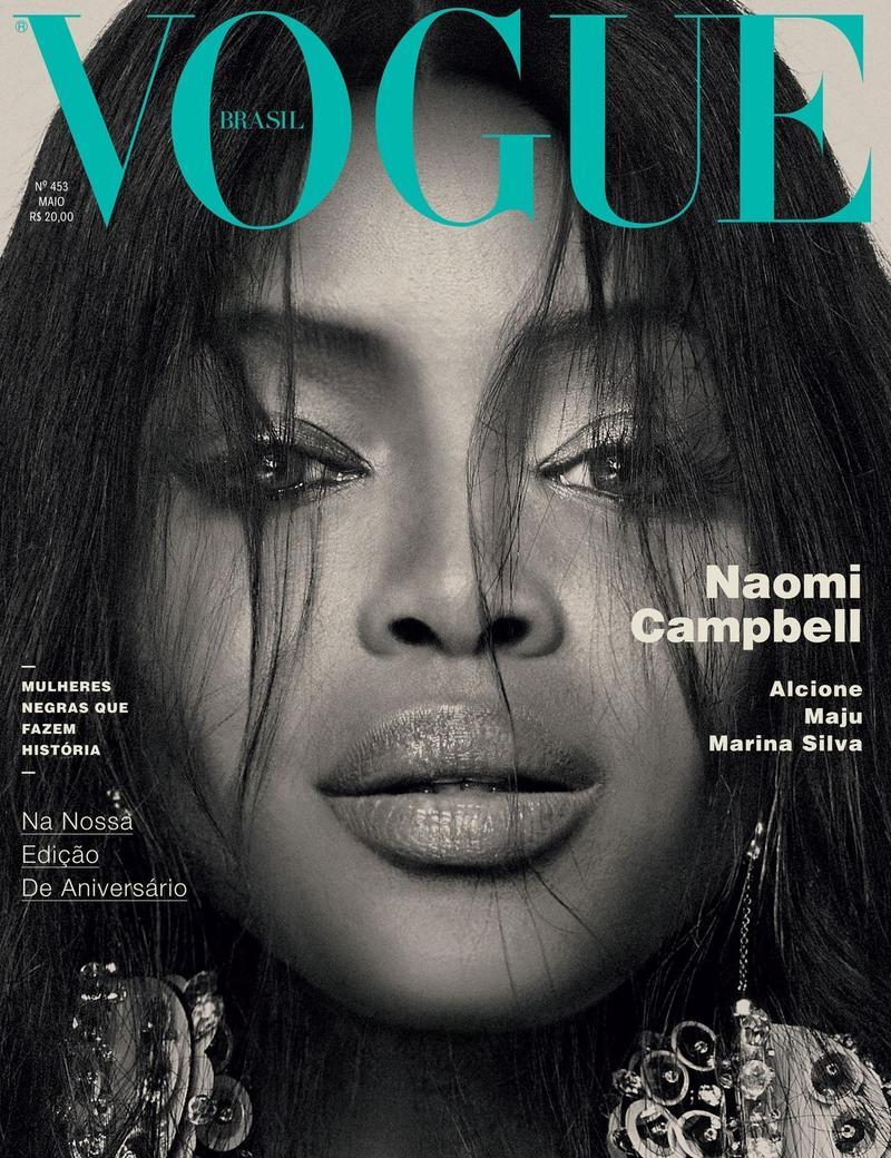 Naomi Campbell on Vogue Brazil May 2016 Cover. Photo: Bob Wolfenson