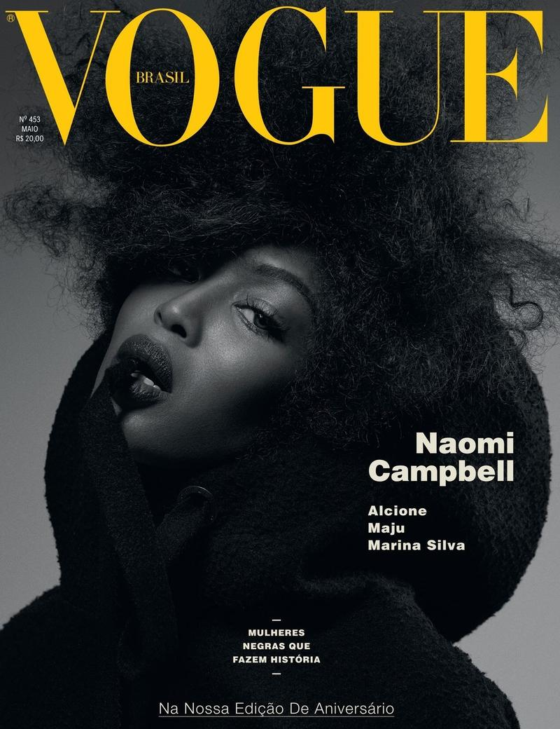 Naomi Campbell on Vogue Brazil May 2016 Cover. Photo: Gui Paginini