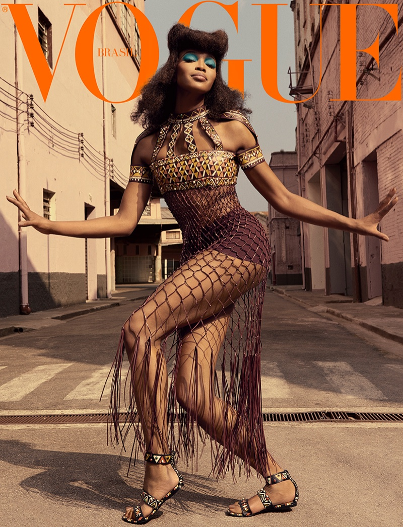 Naomi Campbell on Vogue Brazil May 2016 Cover