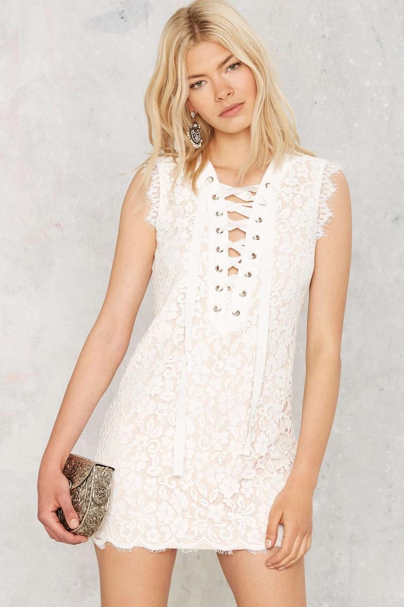 Nasty Gal Lace Instinct Mini Dress
