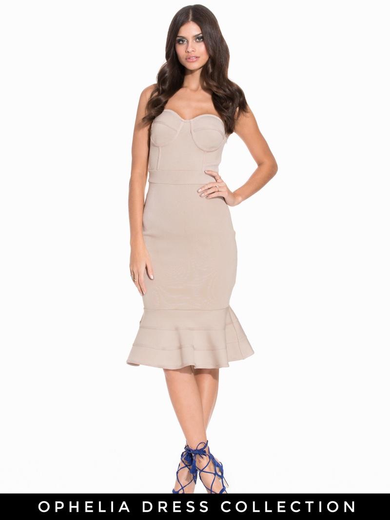 Nelly Bandage Flounce Bodycon Dress