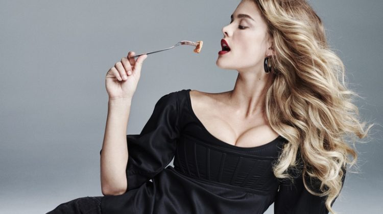 Nina Agdal Poses with Her Favorite Foods for CR Fashion Book