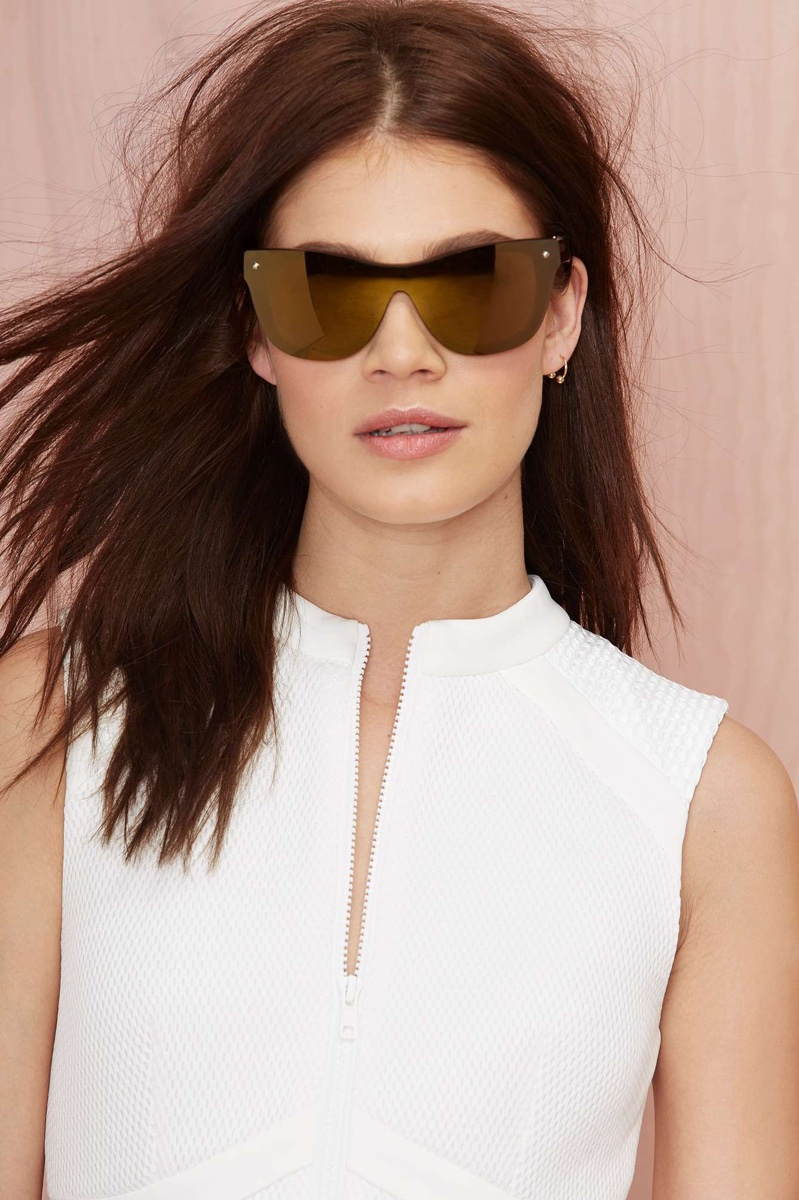 Phillip Lim x Linda Farrow Shield Sunglasses