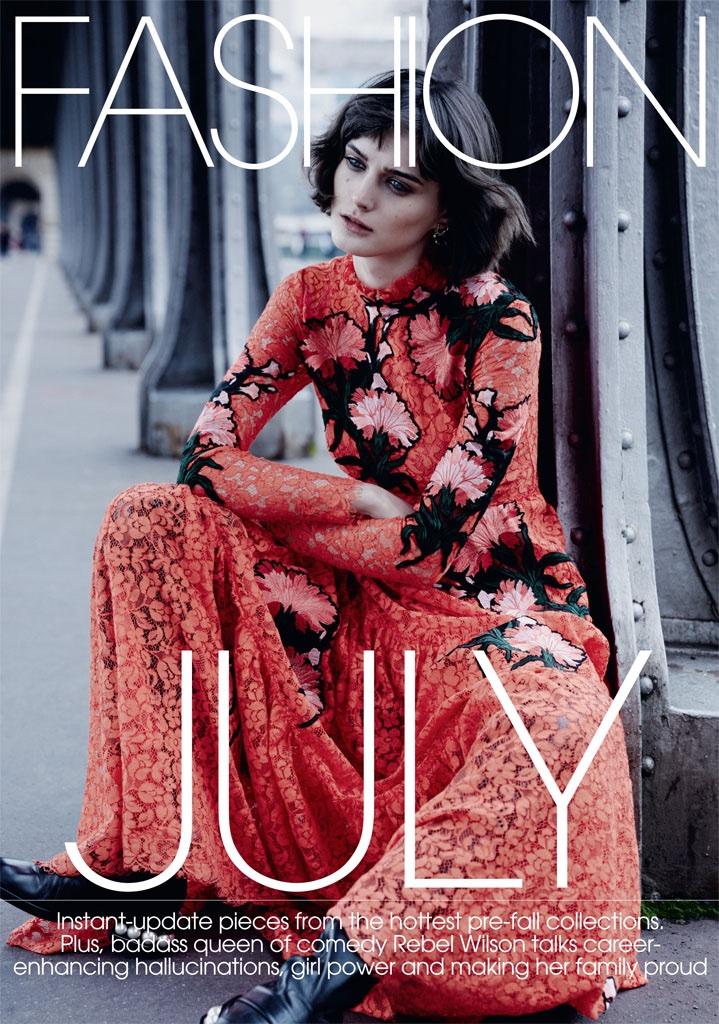 Sibui Nazarenko stars in Marie Claire UK's July issue