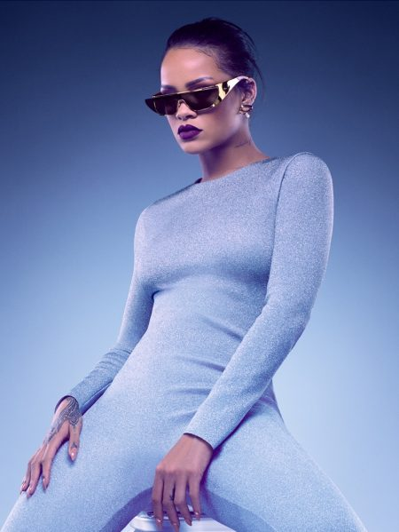 Rihanna rocks one-piece and sunglasses from her Dior collaboration