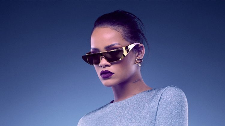 Rihanna Designs (and Models) Futuristic Sunglasses for Dior