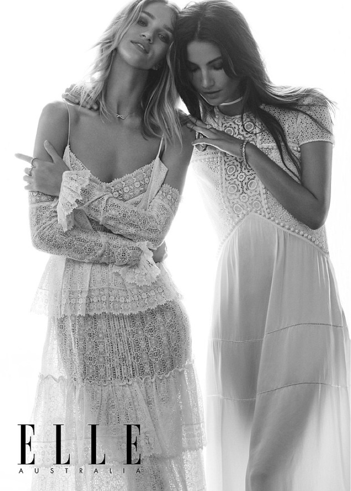c69a5cea8d4 ... Rosie Huntington-Whiteley and Lily Aldridge stuns in all white looks  for the spread
