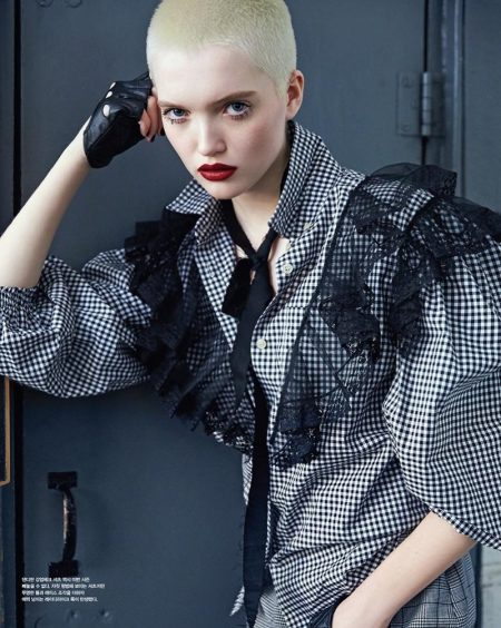Ruth Bell Poses in Miu Miu's Spring Collection for Vogue Korea