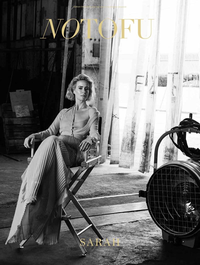 Sarah Paulson on No Tofu Magazine Cover