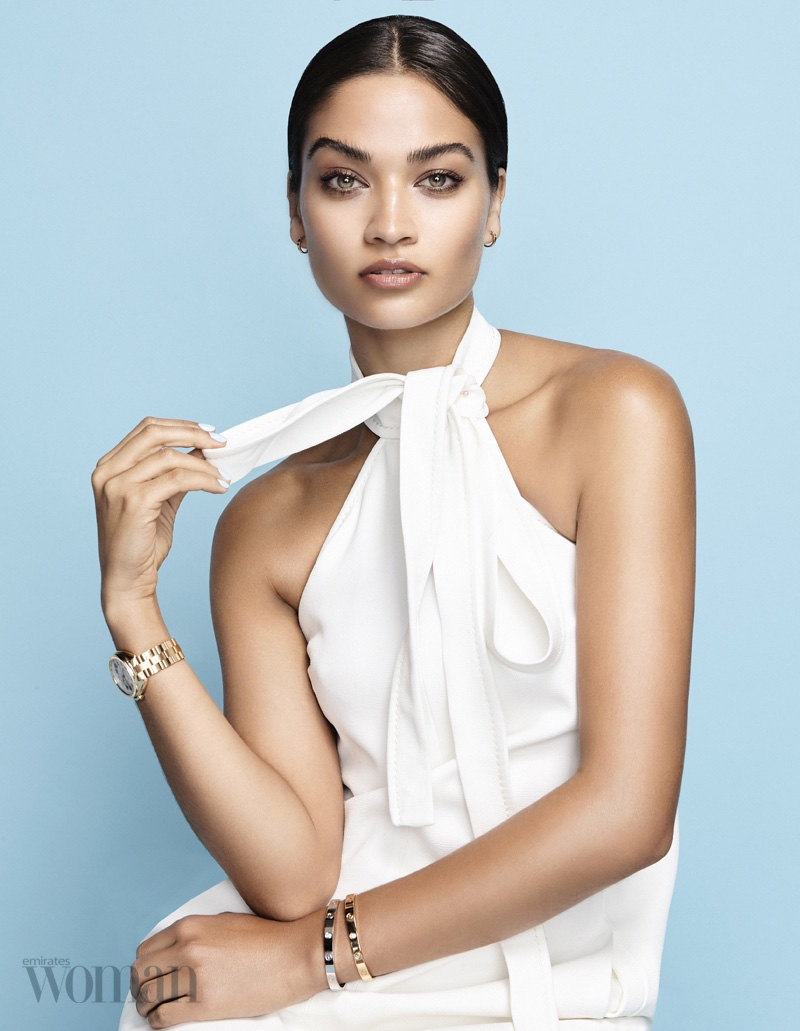 Shanina Shaik Shows How to Wear the All White Trend in Emirates Woman