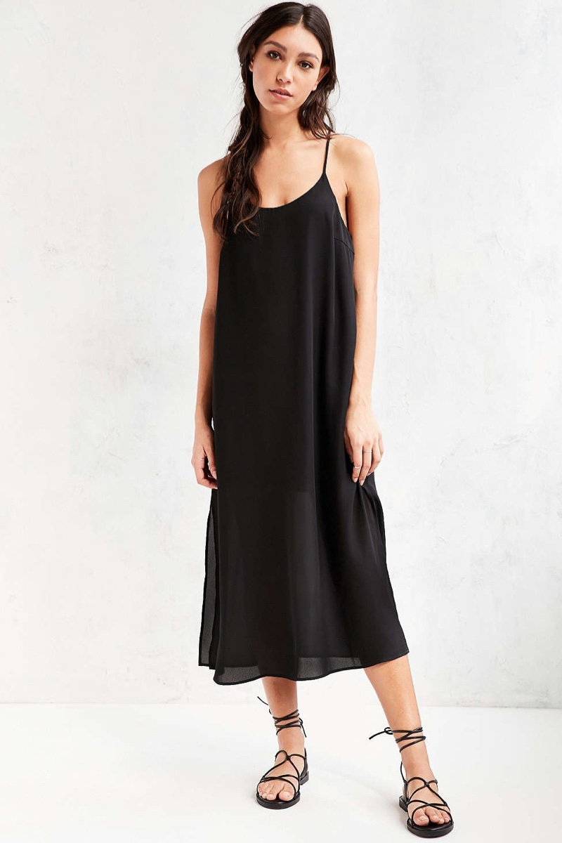 Silence + Noise Slip Dress in Midi Length
